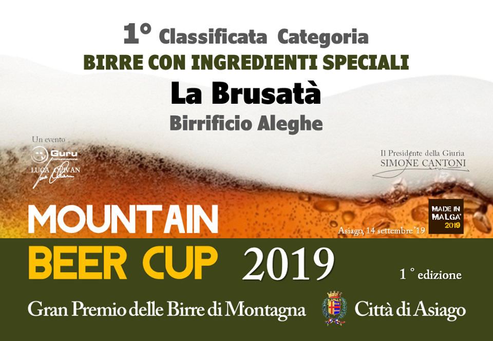 Mountain Beer Cup Asiago 1° Classificato